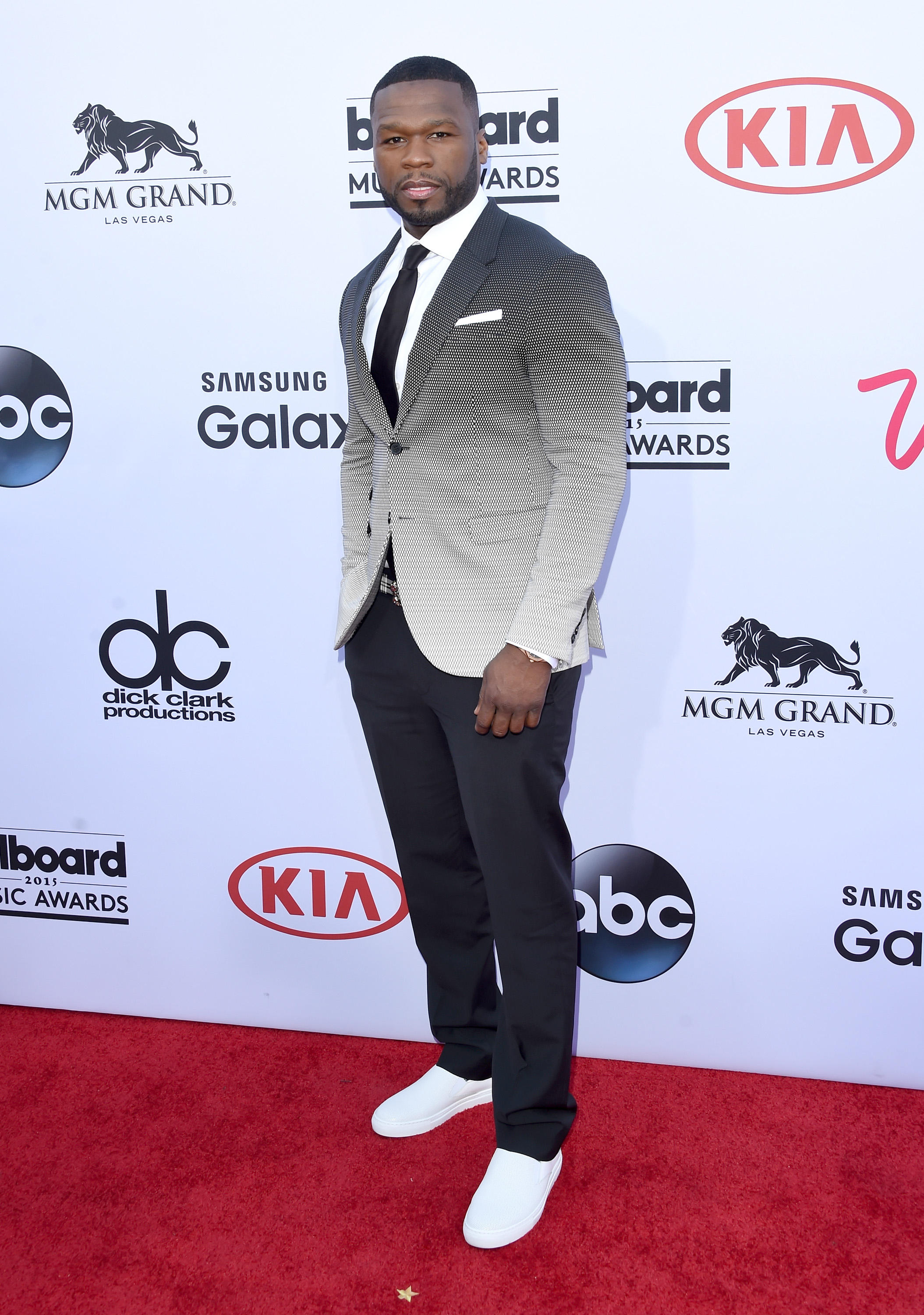 LAS VEGAS, NV - MAY 17:  Rapper 50 Cent attends the 2015 Billboard Music Awards at MGM Grand Garden Arena on May 17, 2015 in Las Vegas, Nevada.  (Photo by Jason Merritt/Getty Images)