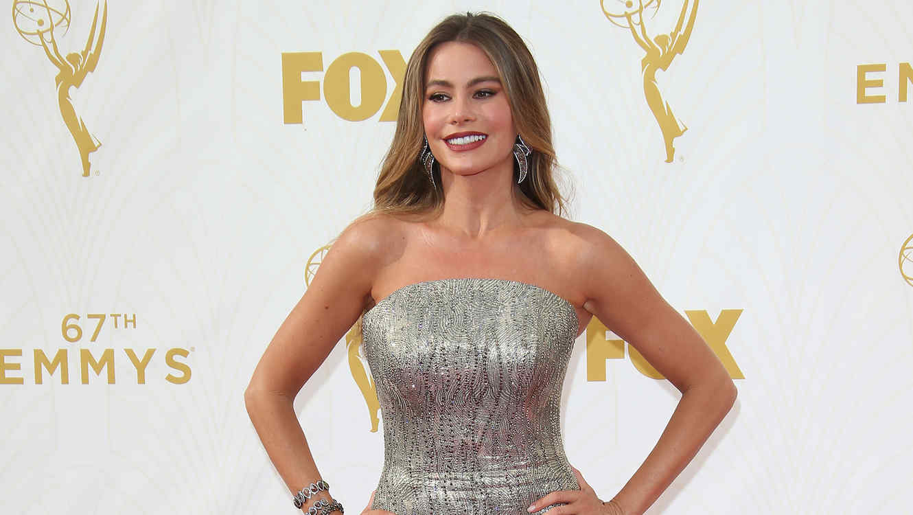 LOS ANGELES, CA - SEPTEMBER 20: Actress Sofia Vergara arrives at the 67th Annual Primetime Emmy Awards at the Microsoft Theater on September 20, 2015 in Los Angeles, California. (Photo by Dan MacMedan/WireImage)