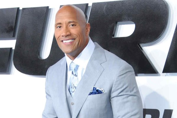 HOLLYWOOD, CA - APRIL 01:  Actor Dwayne Johnson (aka The Rock) arrives at the Los Angeles Premiere 'Furious 7' at TCL Chinese Theatre IMAX on April 1, 2015 in Hollywood, California.  (Photo by Barry King/FilmMagic)